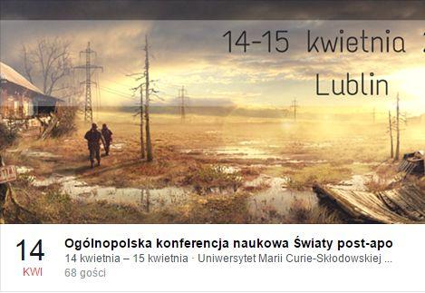 Ogólnopolska konferencja naukowa Światy post-apo